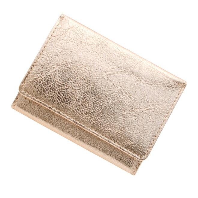 極小財布 ゴートスキン/山羊革 メタリックピンク \13,000(税込 \14,300)