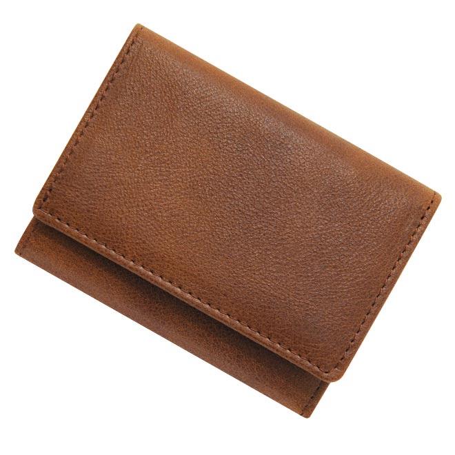 極小財布 ベーシック型小銭入れ ヒメジ 牛革 ブラウン BECKER(ベッカー)