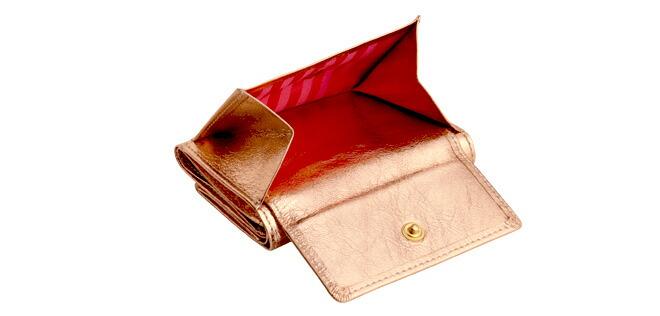 dd638f5a527e 極小財布 MISS別注モデル「メタリックコーラルピンク」(牛革 ...
