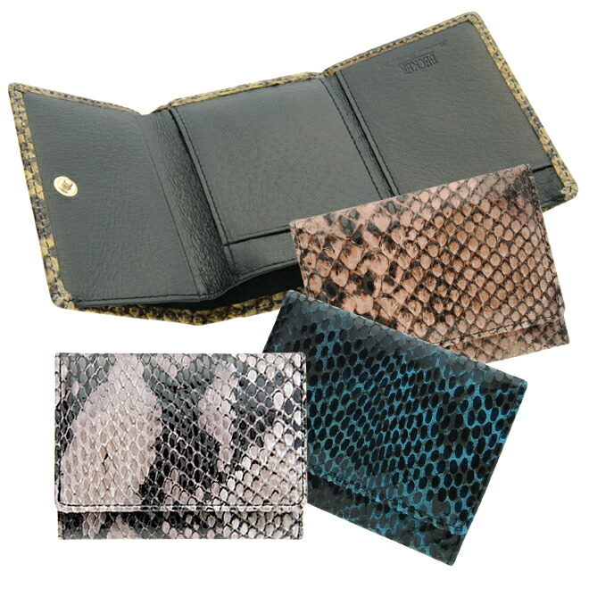 13e3a159ff9a 薄くやわらかいピッグスエードにパイソン柄をプリントし、フィルム加工した個性派極小財布。 内側には環境に優しいエコレザーを使用。 「派手なお財布を持ちたいけれど  ...