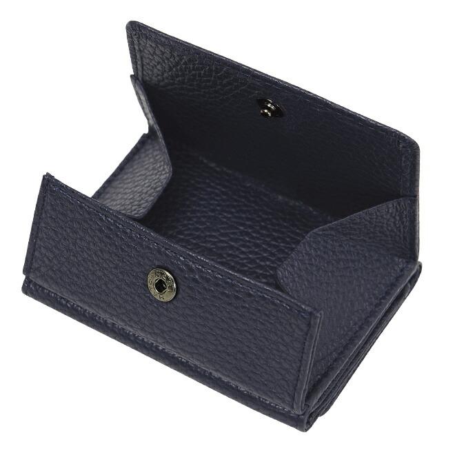 極小財布 Box型小銭入れ ソフトシュリンク ネイビー イタリアンレザー/ADRIA \15,000(税込 \16,500)