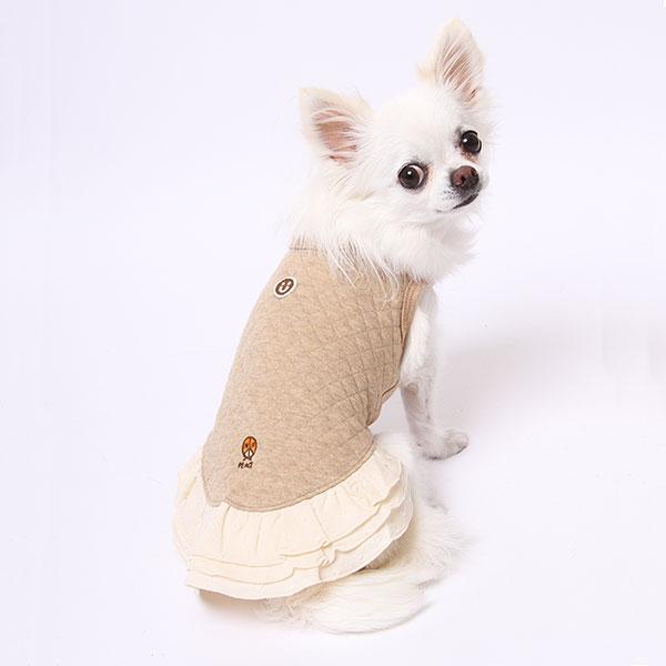 ニットキルトノースリーブワンピース(ミュッターの犬の服)