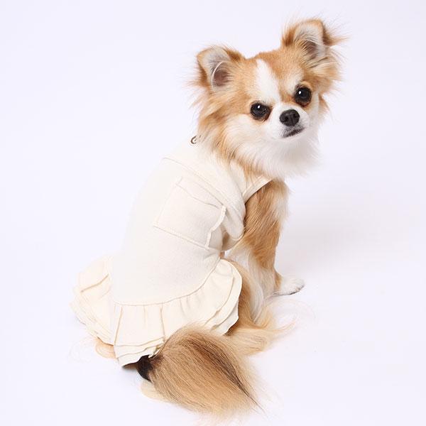 カシミール裏毛起毛ハイネック切替ワンピース(ミュッターの犬の服)