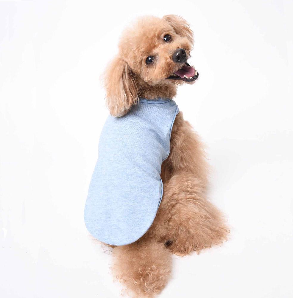 ミュッターのオーガニックコットン犬服(ブルー)