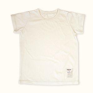 子供半袖肌着Tシャツ(きなり)