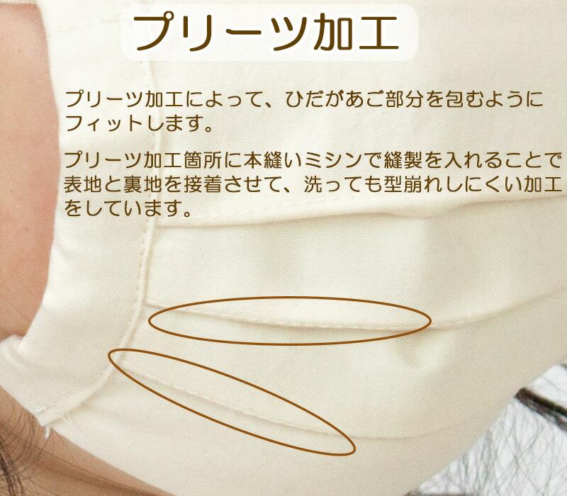 プリーツタイプの布マスク