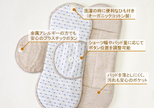 レギュラーサイズの布ナプ
