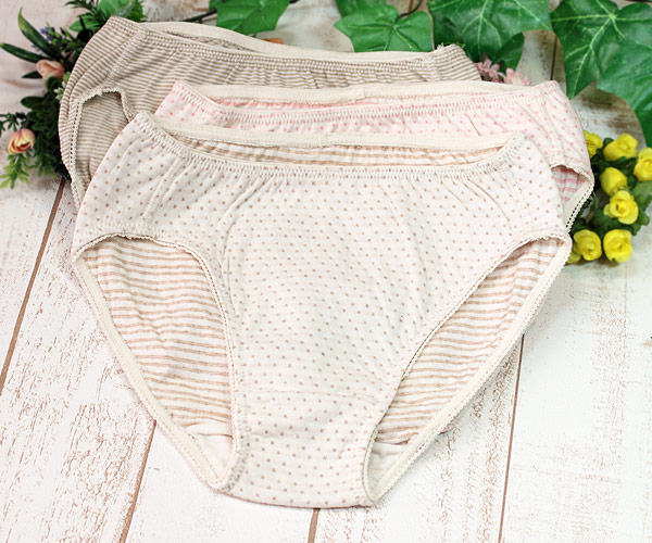Panties of the organic cotton for Lady's