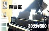 練習室 30分 \500