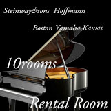 大人気!グランドピアノ練習室 10部屋完備 グランドピアノ2台設置 部屋あり。70名様収容可 ヤマハフルコンサートピアノ CF もあります! 30分¥500〜 予約制です。