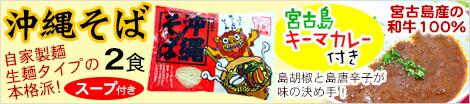 沖縄そば2食入り キーマカレー付き