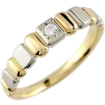 ダイヤモンド リング 一粒ダイヤ 指輪 イエローゴールドk18 プラチナ