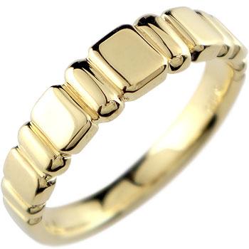 メンズ リング 指輪 イエローゴールドk18 ピンキーリング
