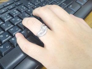 ダイヤモンド 白蛇指輪