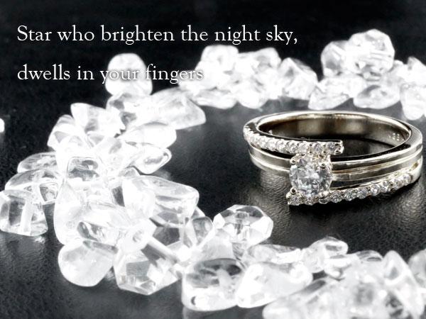 ダイヤモンド リング ソリティア 一粒 立爪 エンゲージリング 婚約指輪