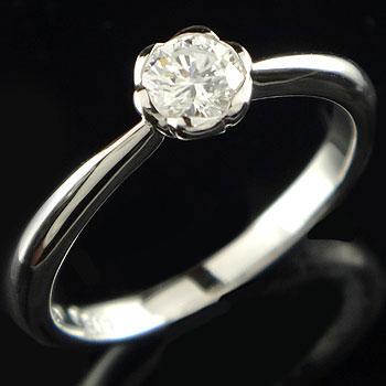 婚約指輪 エンゲージリング プラチナ ダイヤモンド リング