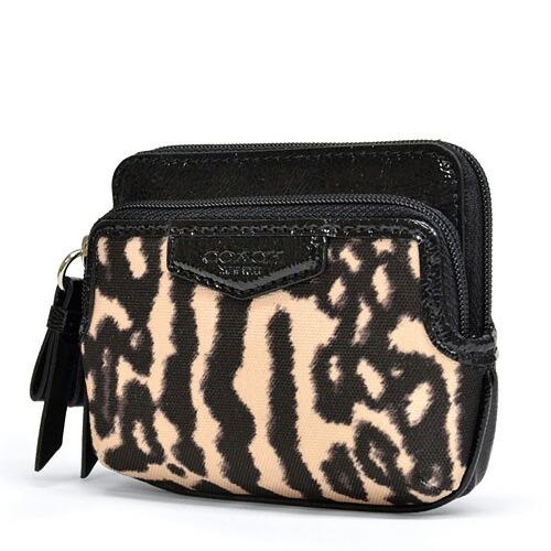 a6bf2f11f9db macalpine: Coach /COACH Leopard double zip coin wallet change put ...