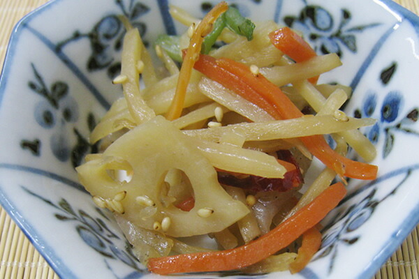 きんぴらごぼう(焼鮎醤油 使用)