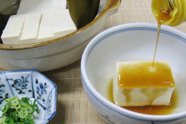 湯どうふ(焼鮎ゆずポン酢 使用)