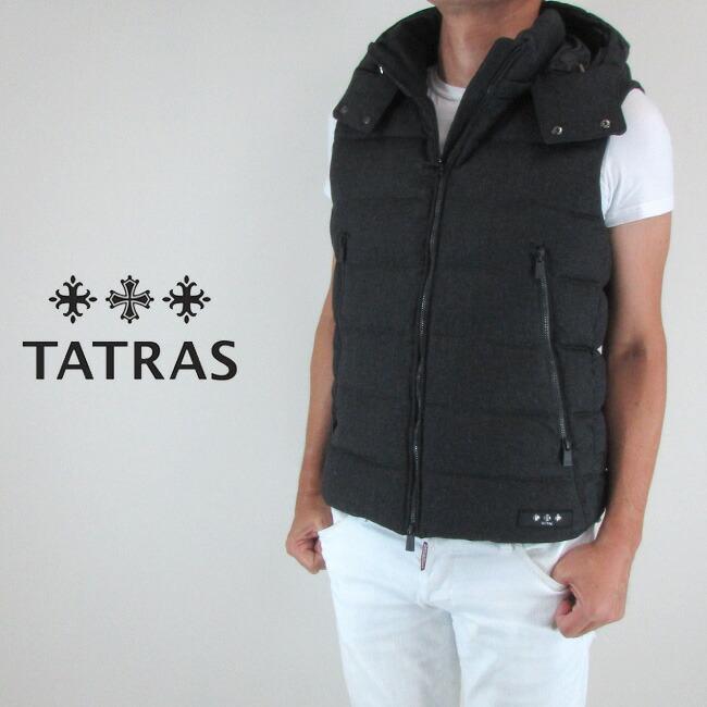 タトラス TATRAS ダウン メンズ ダウンベスト フード付き