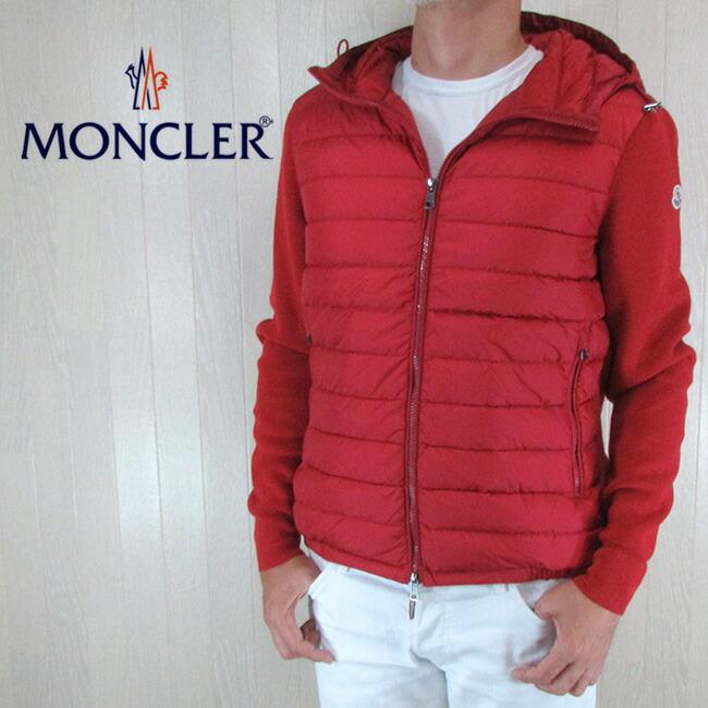 モンクレール MONCLER メンズ ニットコンビ ダウンジャケット ダウン ブルゾン