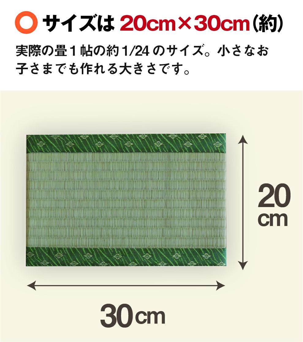 サイズは20cm×30cm