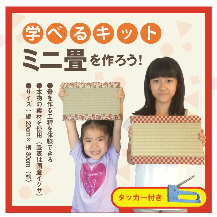【学べるキット】ミニ畳を作ろう!/タッカー付き