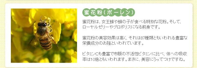 高い美肌効果 蜜花粉 ポーレン
