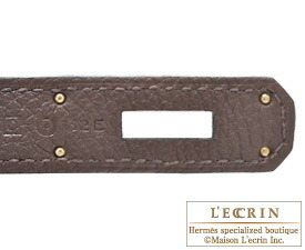 Hermes Birkin bag 35 Chocolat/Chocolate Togo leather Silver hardware