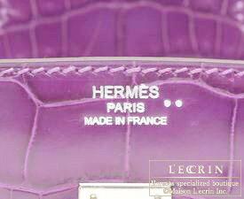 c09970d5be ... Hermes Birkin bag 25 Violet Niloticus crocodile skin Silver hardware