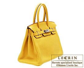 Hermes Birkin bag 30 Soleil Clemence leather Silver hardware