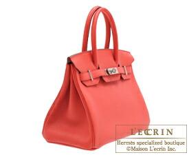 Hermes Birkin bag 30 Bougainvillier Clemence leather Silver hardware