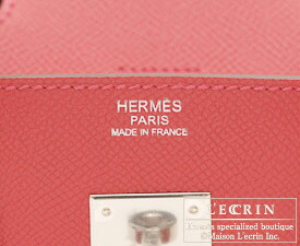 Hermes Birkin bag 25 Bougainvillier Epsom leather Silver hardware