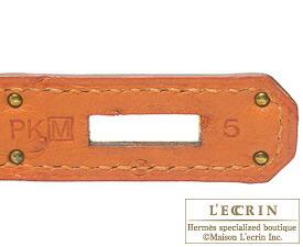 エルメスバーキン30タンジェリンオーストリッチシルバー金具