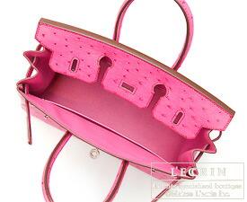 エルメス バーキン25 フューシャピンク オーストリッチ シルバー金具