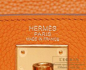 エルメスケリー32/内縫いオレンジトゴゴールド金具