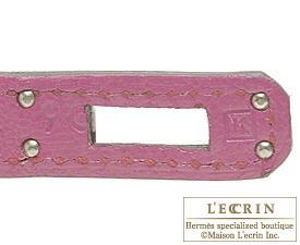 エルメスケリー25/外縫いローズショッキングシェブルミゾルシルバー金具