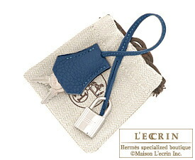Hermes Birkin bag 30 Blue de malte Togo leather Silver hardware