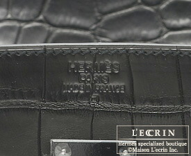 67e499cee5 ... Hermes So-black Birkin bag 35 Black Matt alligator crocodile skin Black  hardware