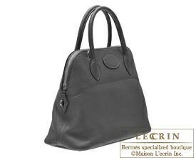 Hermes Bolide bag 31 Black Clemence leather Silver hardware