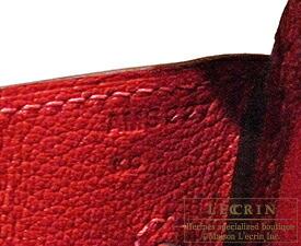 エルメス バーキン35 ルージュカザック ヴォーエプソン シルバー金具