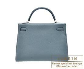 エルメスケリー32/内縫いブルーオラージュトゴシルバー金具