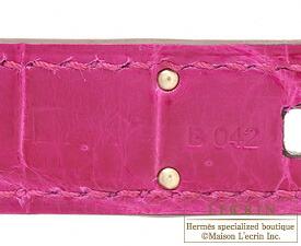 エルメスバーキン30ローズシェヘラザードクロコダイルニロティカスシルバー金具