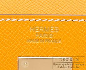 エルメスキャンディ ケリー32/内縫いジョーヌドールヴォーエプソンシャンパンゴールド金具