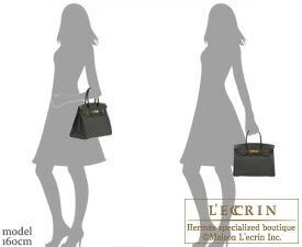 Hermes Birkin bag 30 Black Fjord leather Gold hardware