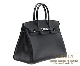Hermes Birkin Bag 35 Black Epsom Leather Silver Hardware