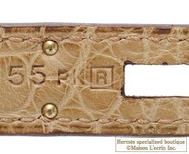 エルメスバーキン30プシエールクロコダイルアリゲーターマットゴールド金具