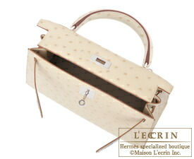 acd557b6aef Lecrin Boutique Tokyo  Hermes Kelly bag 28 Sellier Parchemin Ostrich ...