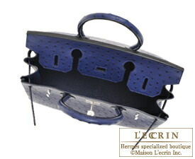 エルメス バーキン30 ブルーアイリス オーストリッチ シルバー金具