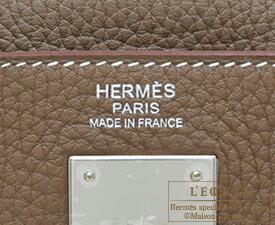エルメス ケリー32/内縫い エトゥープ トリヨンクレマンス シルバー金具